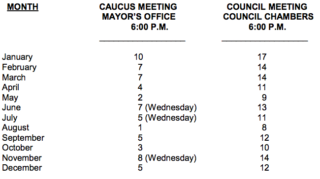 council-meeting-dates-2017