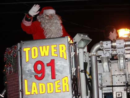Fire Truck Parade 6:30 pm on Friday Nov. 28