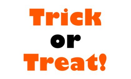 Trick or Treat Hours 4-8 pm Tuesday Oct. 31