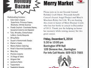 Holiday Bazaar Friday Dec. 5