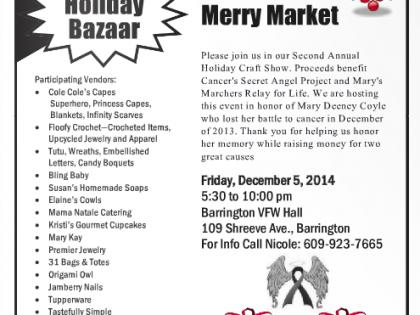 Holiday Bazaar Friday Dec. 5