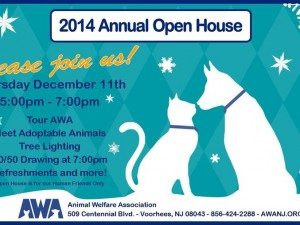 Animal Welfare Assoc. Open House Thurs. Dec. 11