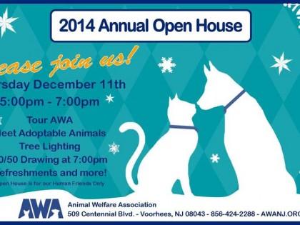 Animal Welfare Assoc. Open House Thurs. Dec. 11