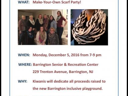 Make Your Own Scarf! Fundraiser for Star Park Mon. Dec. 5