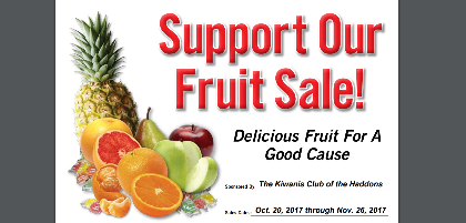 Fruit and Cheesecake Sale until Nov. 26 – Benefits New Playground