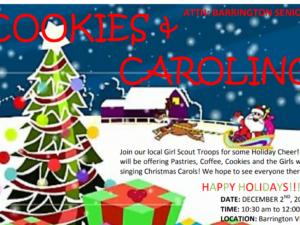 "Dec. 2 ""Cookies and Caroling"" Event for Seniors"