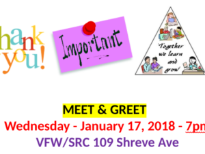 """Meet and Greet"" Community Organizations – Wed. Jan. 17"