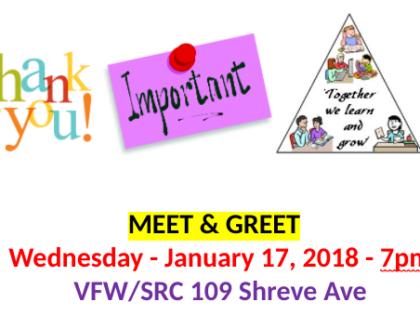 """Meet and Greet"" Community Organizations – Wed. Jan. 17"